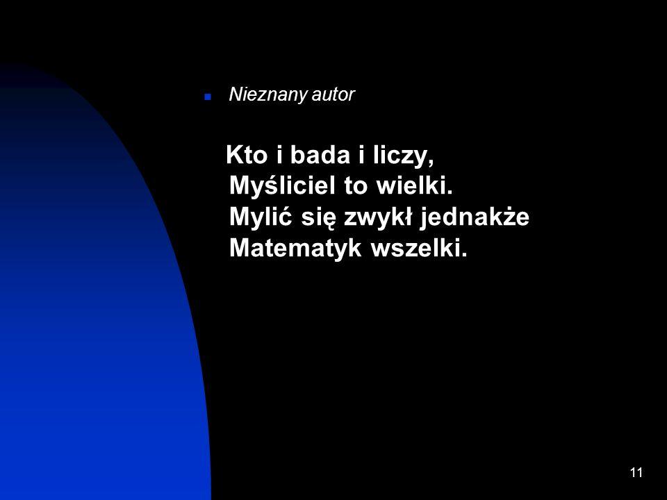 Zadiwiajaca liczba pi10 Inwokacja Witolda Rybczyńskiego do Mnemozyny, bogini pamięci (zamiast słowa zdania należy wstawić problemu, a myślnik oznacza