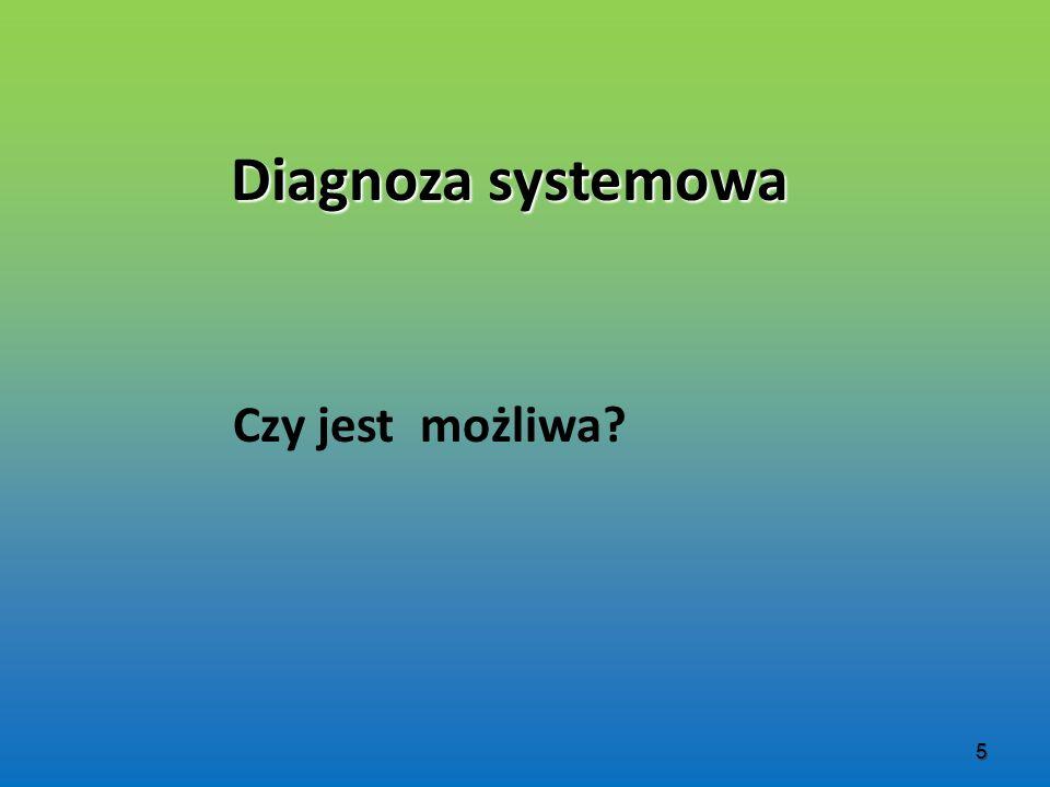 Diagnoza systemowa Czy jest możliwa? 5