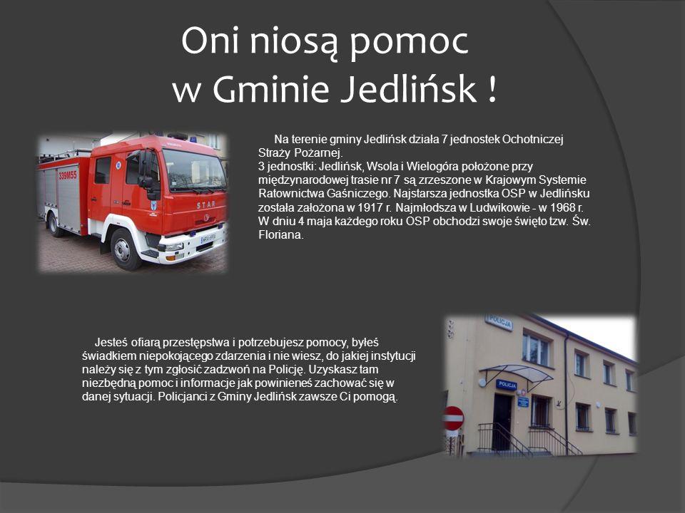 Na terenie gminy Jedlińsk działa 7 jednostek Ochotniczej Straży Pożarnej. 3 jednostki: Jedlińsk, Wsola i Wielogóra położone przy międzynarodowej trasi