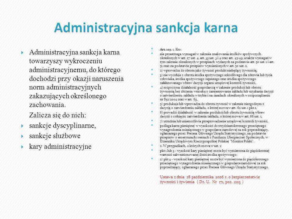 Administracyjna sankcja karna towarzyszy wykroczeniu administracyjnemu, do którego dochodzi przy okazji naruszenia norm administracyjnych zakazujących