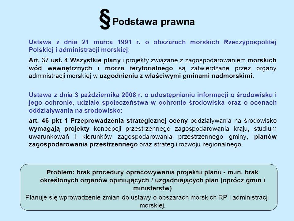 § Podstawa prawna Ustawa z dnia 21 marca 1991 r. o obszarach morskich Rzeczypospolitej Polskiej i administracji morskiej: Art. 37 ust. 4 Wszystkie pla