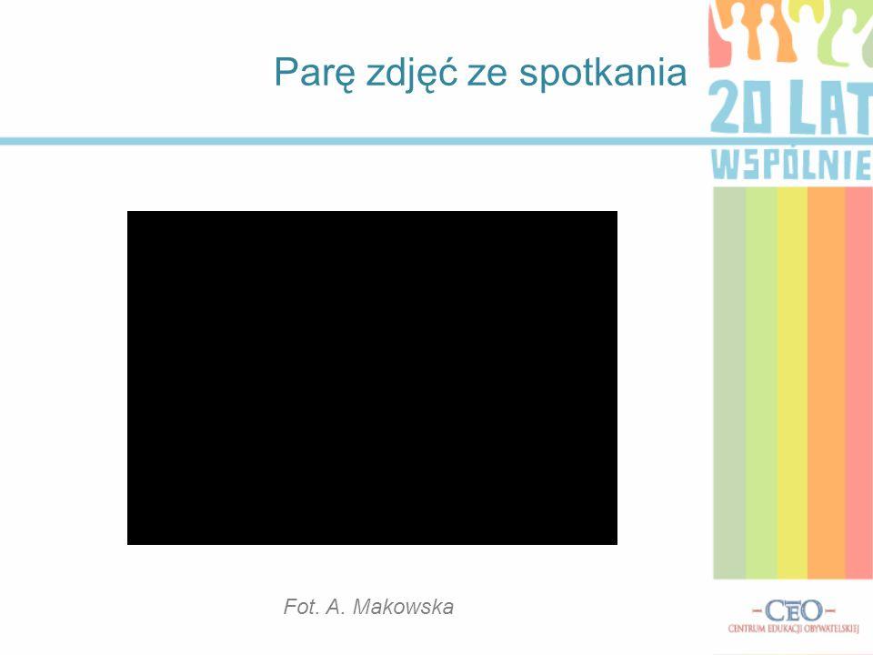 Parę zdjęć ze spotkania Fot. A. Makowska