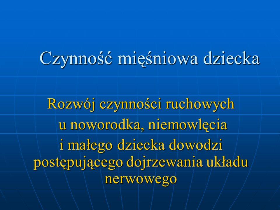Dynamika neuromuskularna narządu żucia nie rozwija się równocześnie we wszystkich składowych.