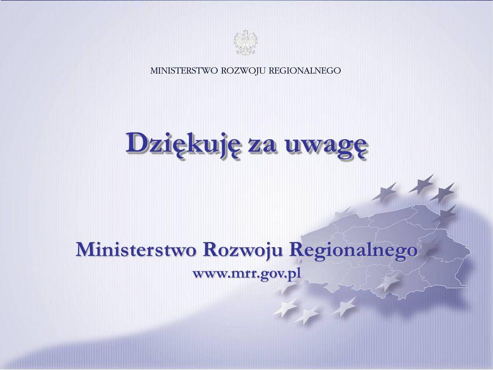 20 Ministerstwo Rozwoju Regionalnego www.mrr.gov.pl Dziękuję za uwagę