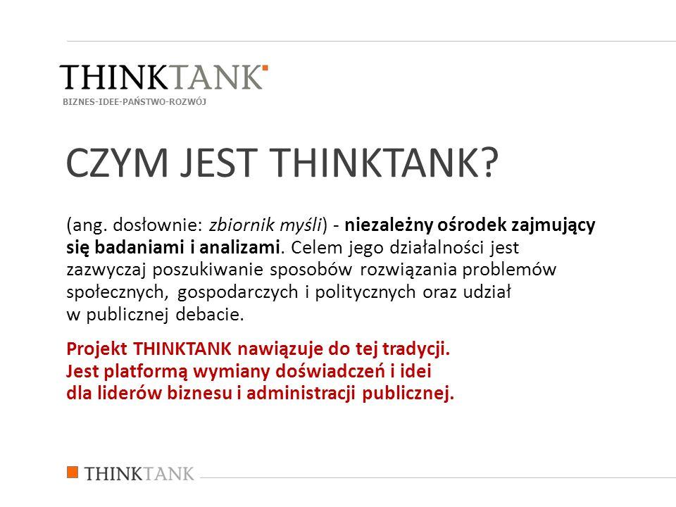 (ang. dosłownie: zbiornik myśli) - niezależny ośrodek zajmujący się badaniami i analizami. Celem jego działalności jest zazwyczaj poszukiwanie sposobó