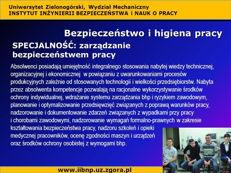 Absolwenci posiadają umiejętność integralnego stosowania nabytej wiedzy technicznej, organizacyjnej i ekonomicznej w powiązaniu z uwarunkowaniami proc