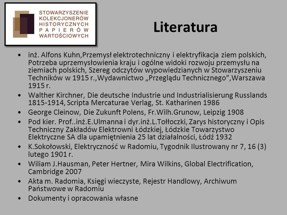 Literatura inż. Alfons Kuhn,Przemysł elektrotechniczny i elektryfikacja ziem polskich, Potrzeba uprzemysłowienia kraju i ogólne widoki rozwoju przemys