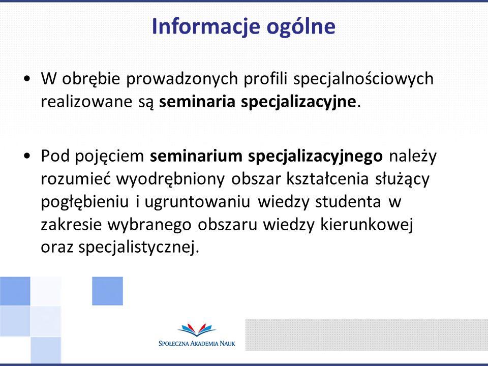E-biznes i Marketing Communications Logistyka w zarządzaniu Rachunkowość i Finanse w Zarządzaniu Zarządzanie Organizacjami Zarządzanie Zasobami Ludzkimi Administracja i zarządzanie publiczne Oferta profili specjalnościowych
