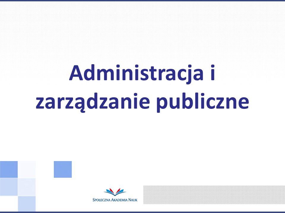 Administracja i zarządzanie publiczne