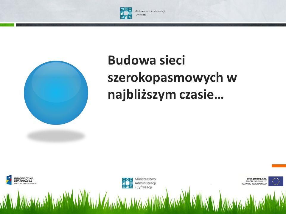 Ministerstwo Administracji i Cyfryzacji Budowa sieci szerokopasmowych w najbliższym czasie…