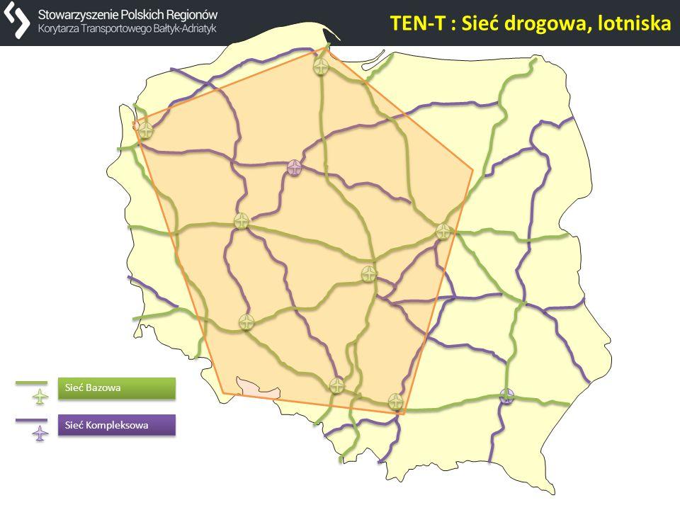 Sieć Kompleksowa Sieć Bazowa TEN-T : Sieć drogowa, lotniska