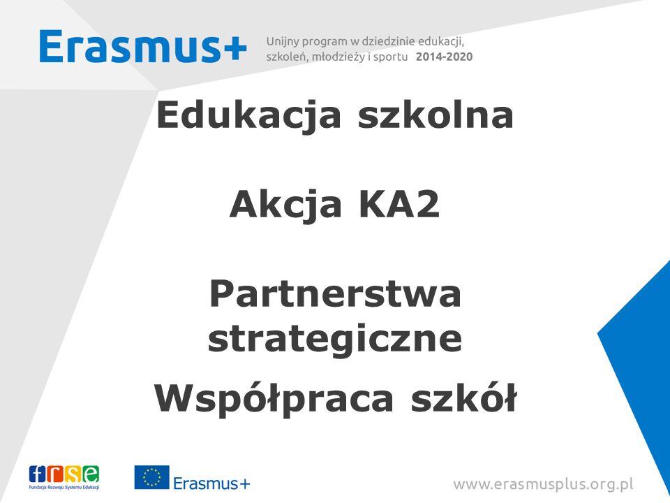 Edukacja szkolna Akcja KA2 Partnerstwa strategiczne Współpraca szkół