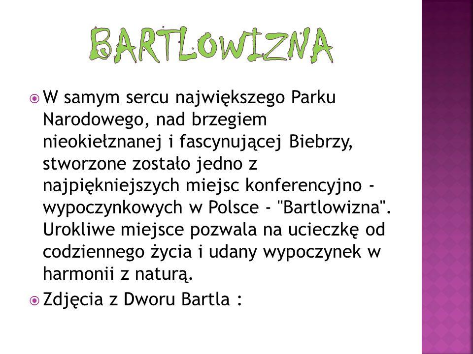 W samym sercu największego Parku Narodowego, nad brzegiem nieokiełznanej i fascynującej Biebrzy, stworzone zostało jedno z najpiękniejszych miejsc konferencyjno - wypoczynkowych w Polsce - Bartlowizna .