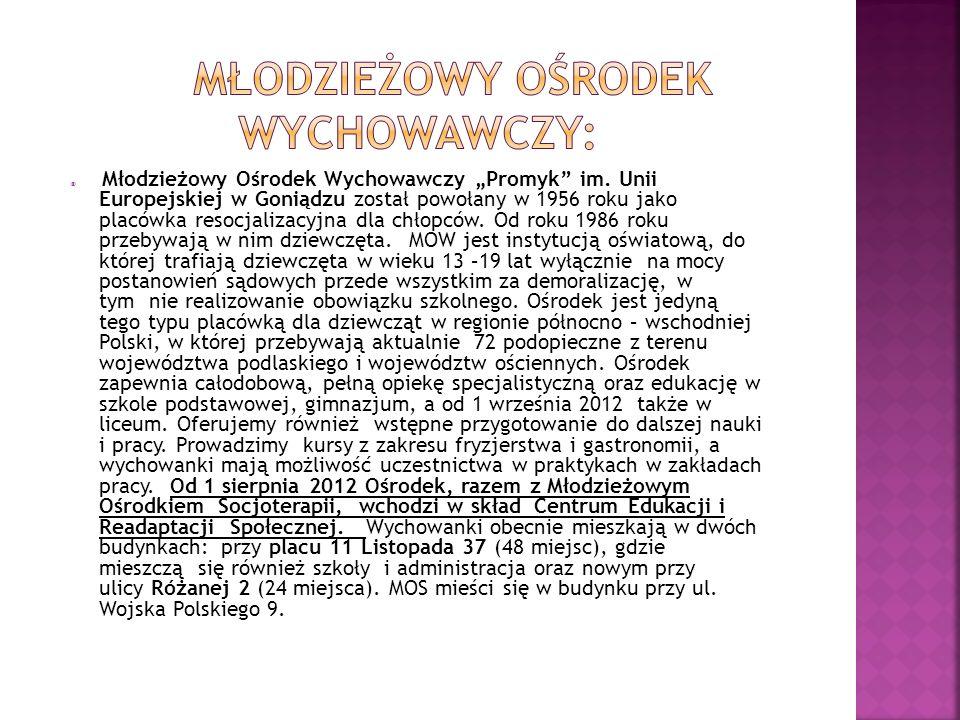 Młodzieżowy Ośrodek Wychowawczy Promyk im.