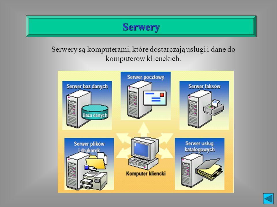 Jeden centralny węzeł (serwer), do którego przyłączone są pozostałe elementy sieci za pomocą koncentratora(HUBA).