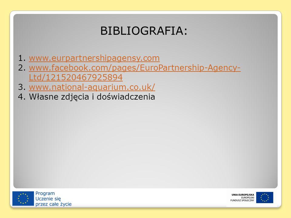 BIBLIOGRAFIA: 1.www.eurpartnershipagensy.comwww.eurpartnershipagensy.com 2.www.facebook.com/pages/EuroPartnership-Agency- Ltd/121520467925894www.faceb