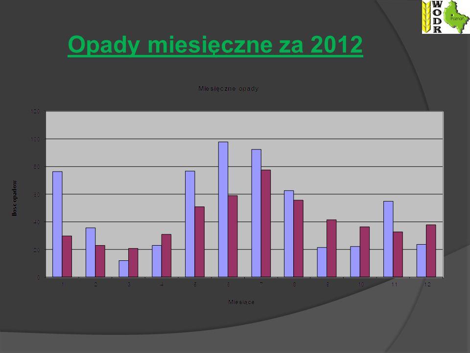 Opady miesięczne za 2012
