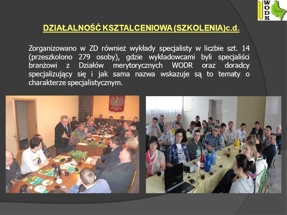 Zorganizowano w ZD również wykłady specjalisty w liczbie szt.