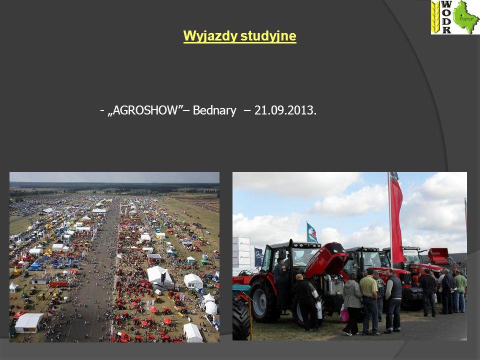 Wyjazdy studyjne - AGROSHOW– Bednary – 21.09.2013.