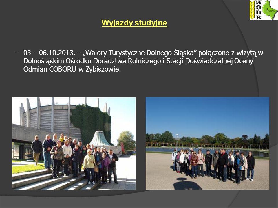Wyjazdy studyjne -03 – 06.10.2013.