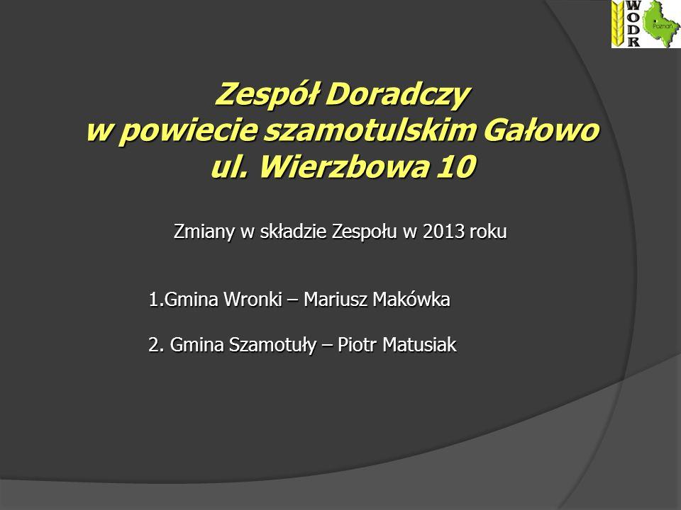 Zespół Doradczy w powiecie szamotulskim Gałowo ul.
