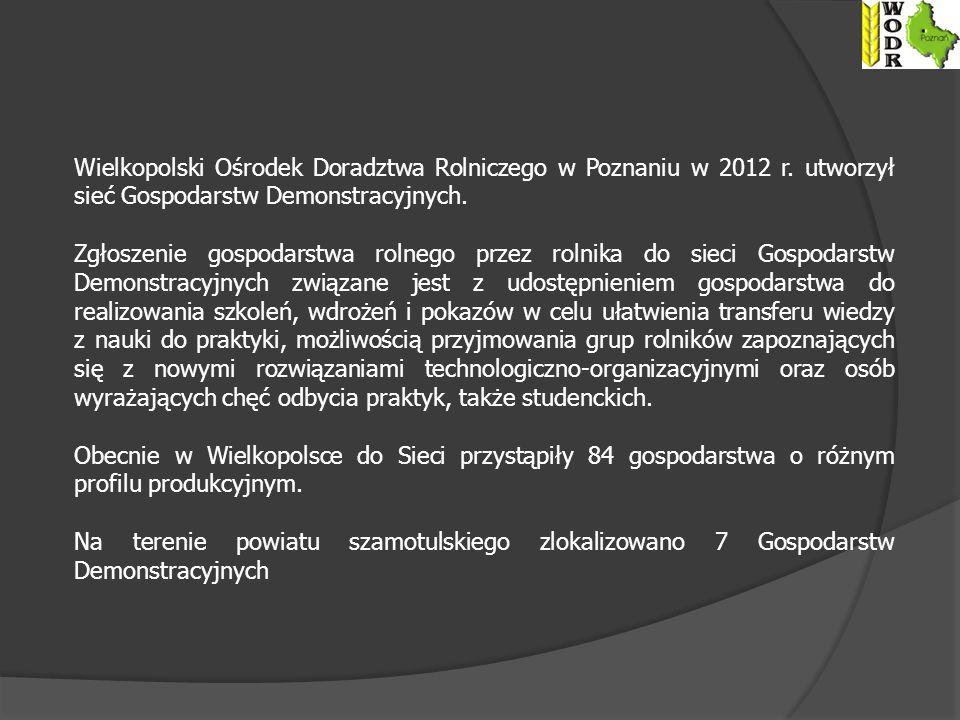 Wielkopolski Ośrodek Doradztwa Rolniczego w Poznaniu w 2012 r.