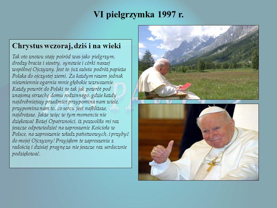 V pielgrzymka 1995 r Wbrew pozorom, praw sumienia trzeba bronić także dzisiaj. Pod hasłami tolerancji, w życiu publicznym i w środkach masowego przeka