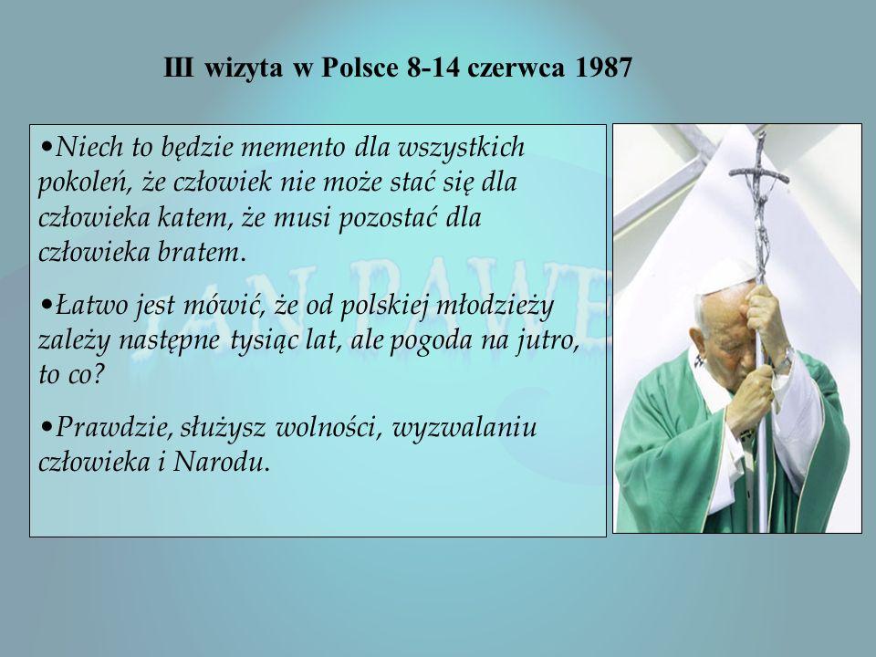 1 Pielgrzymka papieża do Polski 1979r. Wołam, ja, syn polskiej ziemi, a zarazem ja, Jan Paweł II, papież. Wołam z całej głębi tego Tysiąclecia, wołam