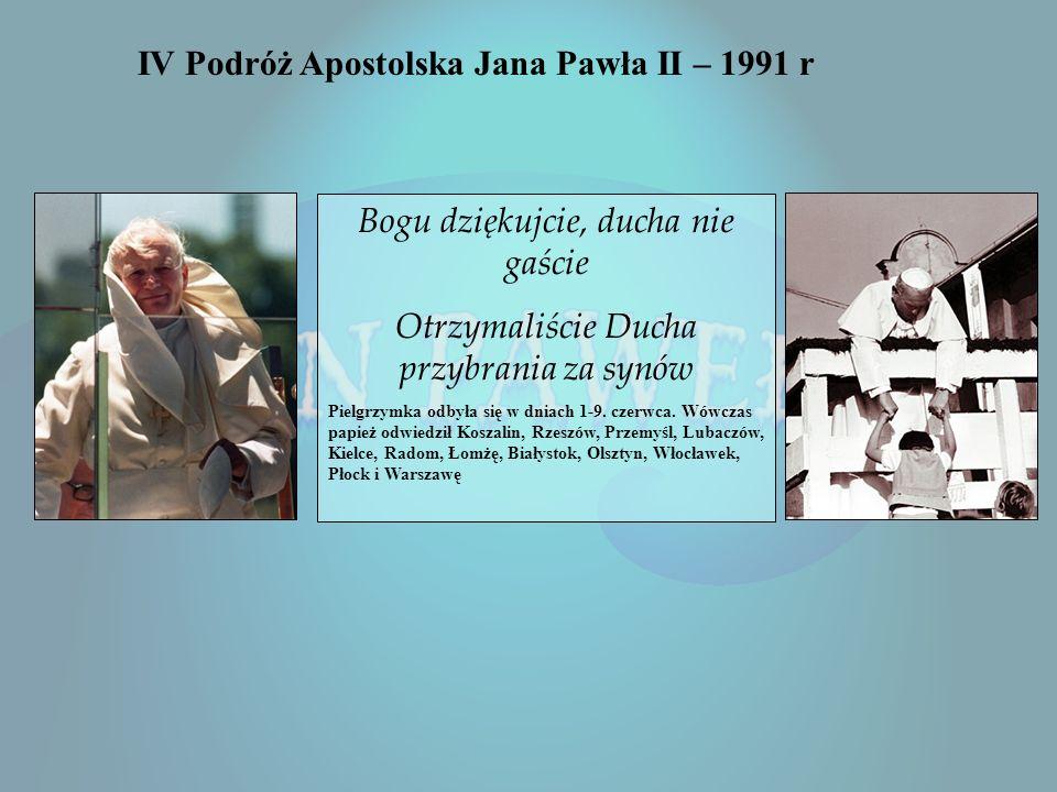 III wizyta w Polsce 8-14 czerwca 1987 Niech to będzie memento dla wszystkich pokoleń, że człowiek nie może stać się dla człowieka katem, że musi pozos
