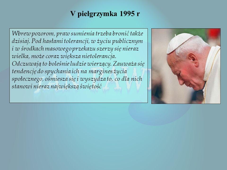 IV Podróż Apostolska Jana Pawła II – 1991 r Bogu dziękujcie, ducha nie gaście Otrzymaliście Ducha przybrania za synów Pielgrzymka odbyła się w dniach