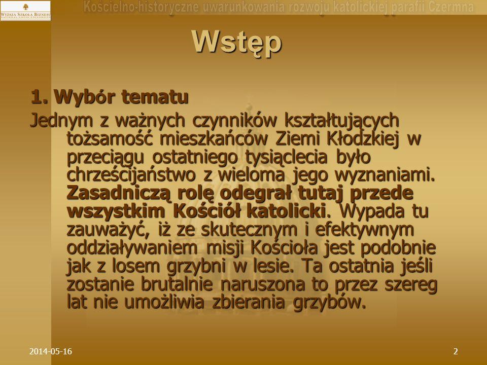 2014-05-1633 IV.1.Sieć parafialna z Ziemi Kłodzkiej z k.