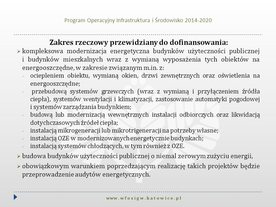 Program kompleksowej likwidacji niskiej emisji na terenie konurbacji śląsko – dąbrowskiej I.