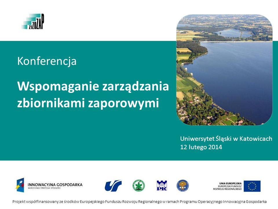Projekt współfinansowany ze środków Europejskiego Funduszu Rozwoju Regionalnego w ramach Programu Operacyjnego Innowacyjna Gospodarka Konferencja Wspo