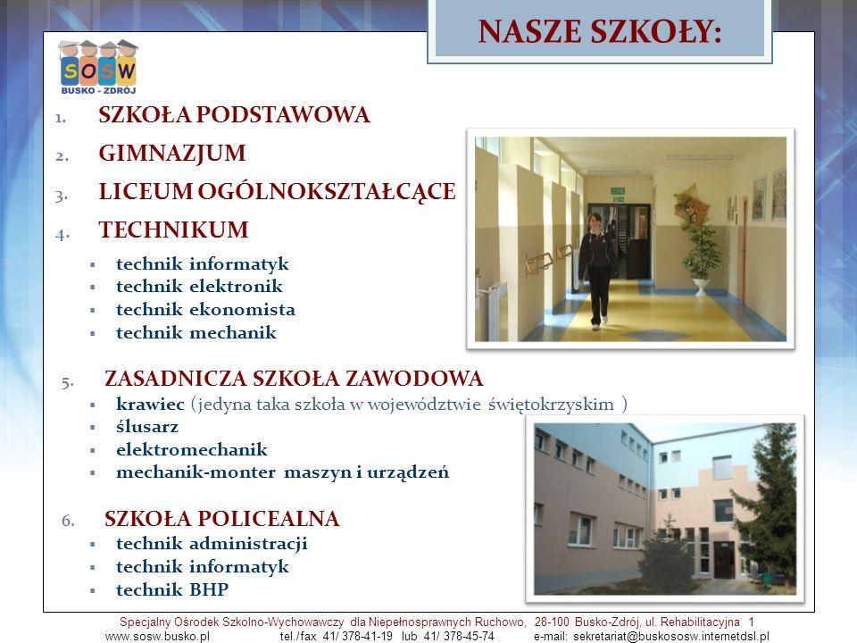 Rewalidacja Specjalny Ośrodek Szkolno-Wychowawczy dla Niepełnosprawnych Ruchowo, 28-100 Busko-Zdrój, ul.