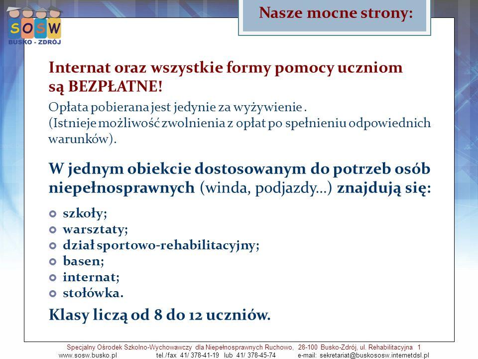 Sport Specjalny Ośrodek Szkolno-Wychowawczy dla Niepełnosprawnych Ruchowo, 28-100 Busko-Zdrój, ul.