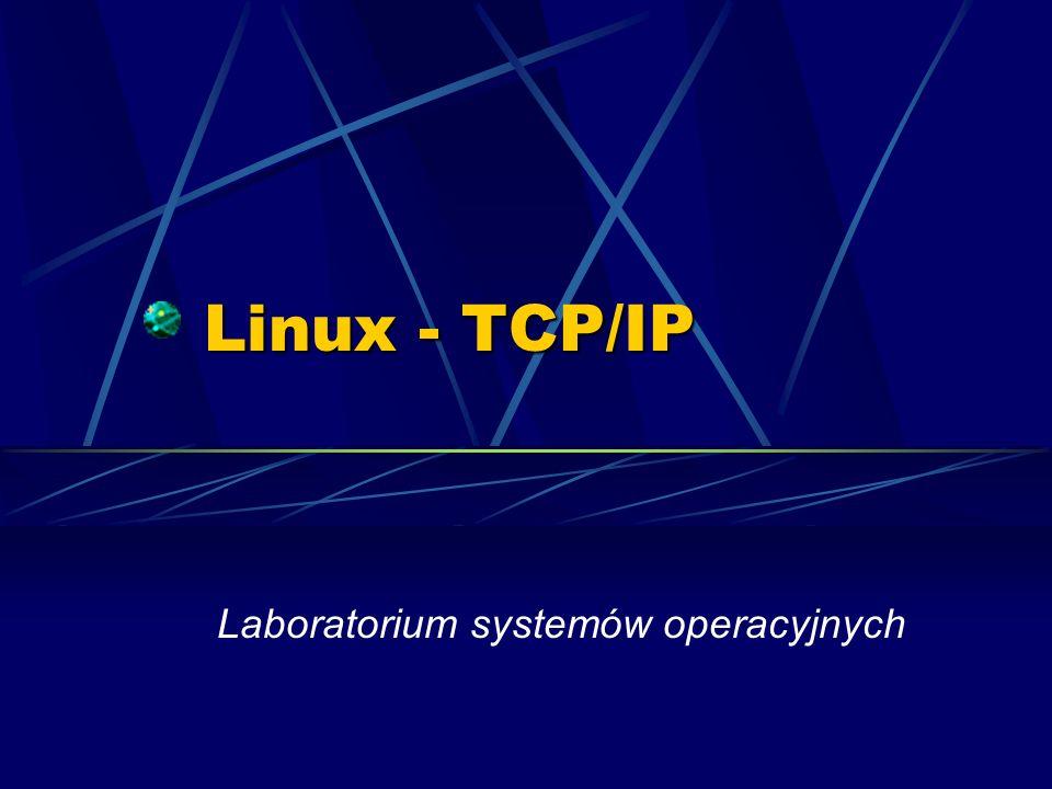 Podstawowe protokoły ICMP – protokół kontrolny TCP – protokół połączeniowy (kontrola stanu transmisji) UDP – protokół bezpołączeniowy (brak kontroli stanu transmisji) ARP – zamiana IP-adresu na numer karty sieciowej (adres MAC) DNS – konwersja nazwy domenowej na IP-adres (i odwrotnie)