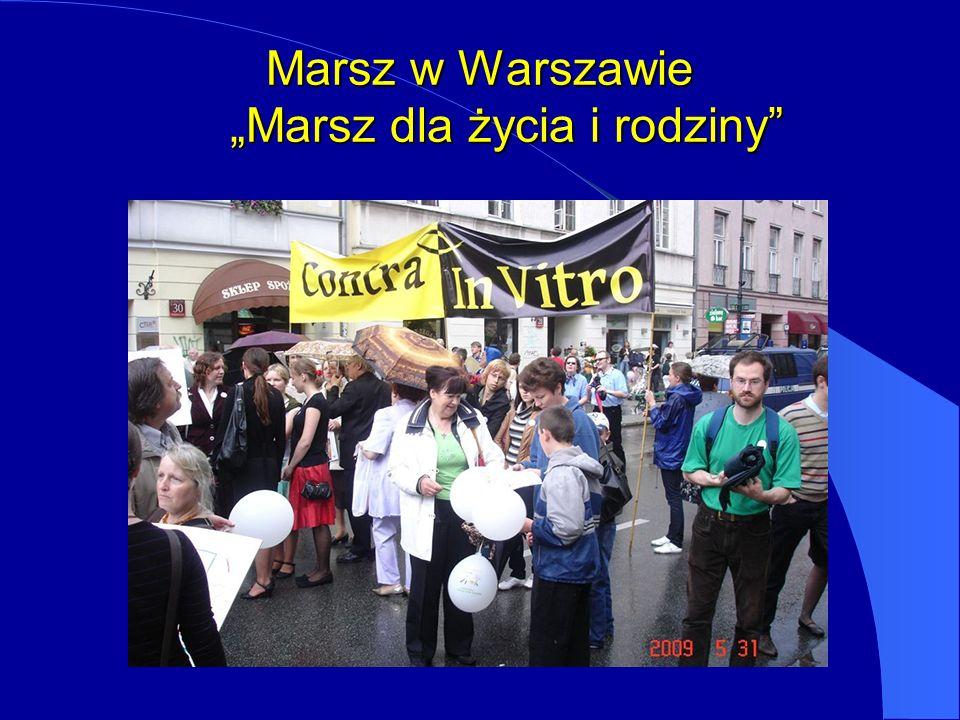 Marsz w Warszawie Marsz dla życia i rodziny