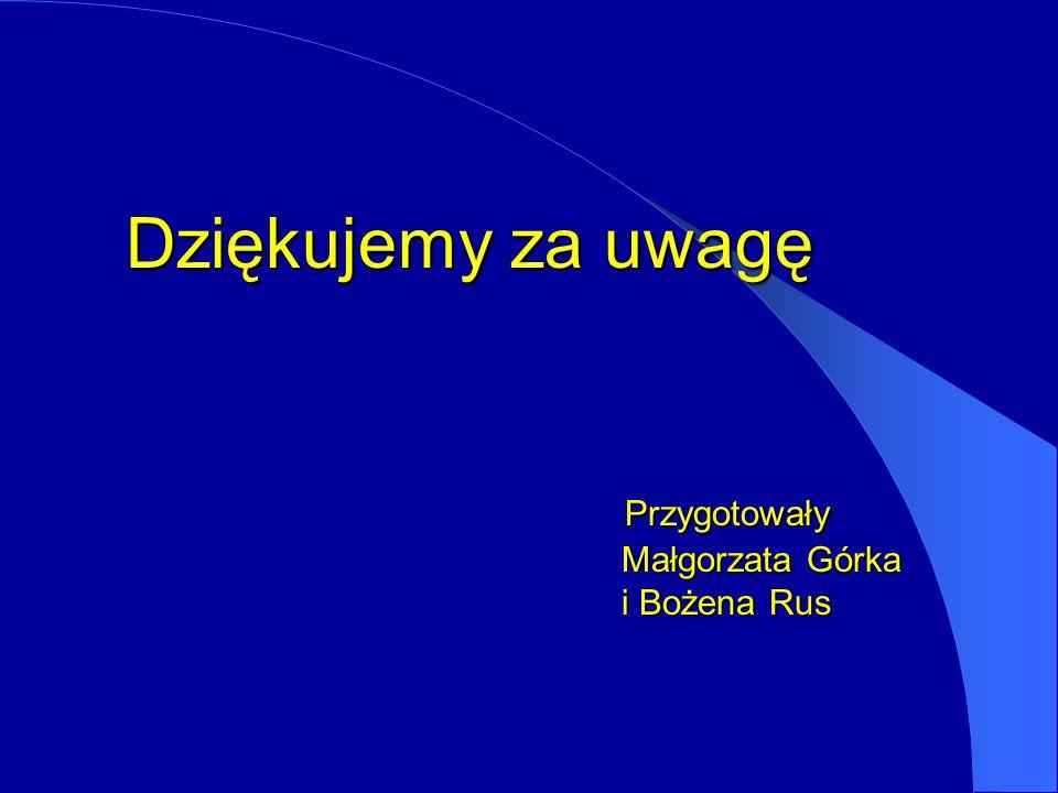 Dziękujemy za uwagę Przygotowały Małgorzata Górka i Bożena Rus