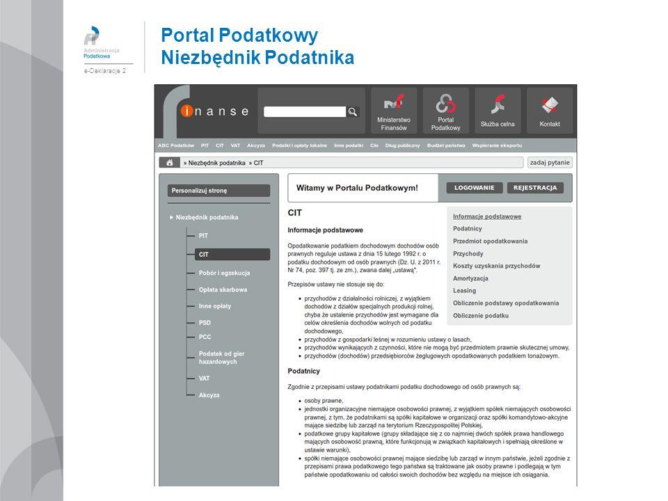 Portal Podatkowy Niezbędnik Podatnika e-Deklaracje 2