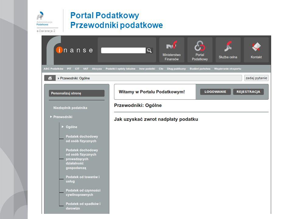 Portal Podatkowy Przewodniki podatkowe e-Deklaracje 2