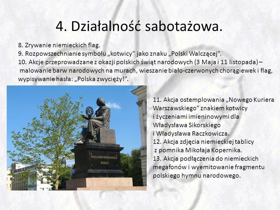 4.Działalność sabotażowa. 8. Zrywanie niemieckich flag.