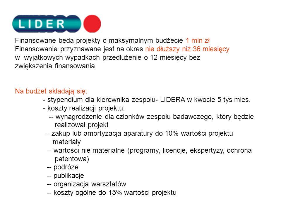 Uprzejmie informujemy o otwarciu przez Dyrektora Narodowego Centrum Badań i Rozwoju pierwszego konkursu na projekty w ramach Programu LIDER.Uprzejmie informujemy o otwarciu przez Dyrektora Narodowego Centrum Badań i Rozwoju pierwszego konkursu na projekty w ramach Programu LIDER.