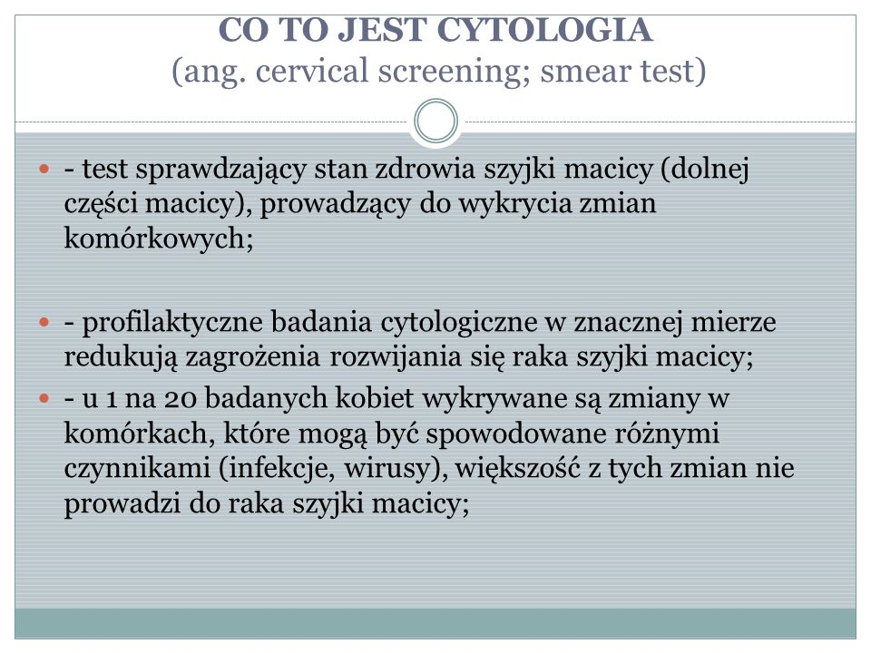 CO TO JEST CYTOLOGIA (ang.