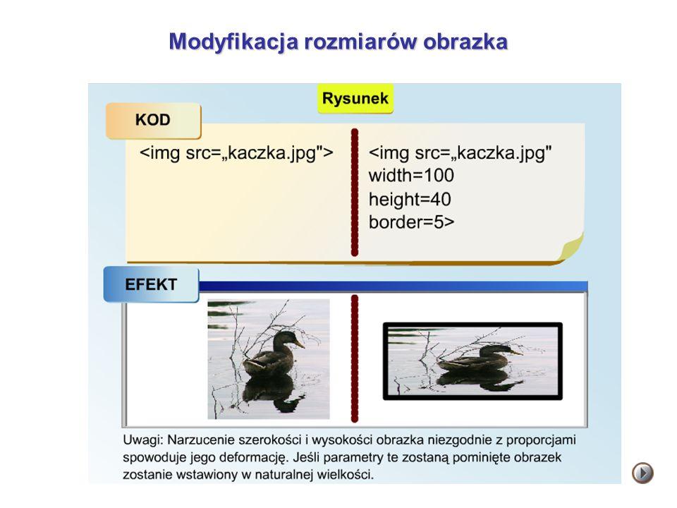 Modyfikacja rozmiarów obrazka