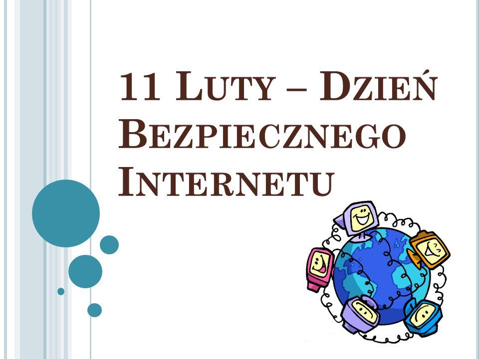 I NTERNET Globalna sieć komputerowa łącząca ze sobą miliony komputerów na całym świecie, umożliwiając ich użytkownikom wzajemne przesyłanie informacji za pomocą sieci telefonicznej, łączy światłowodów albo satelitarnych.