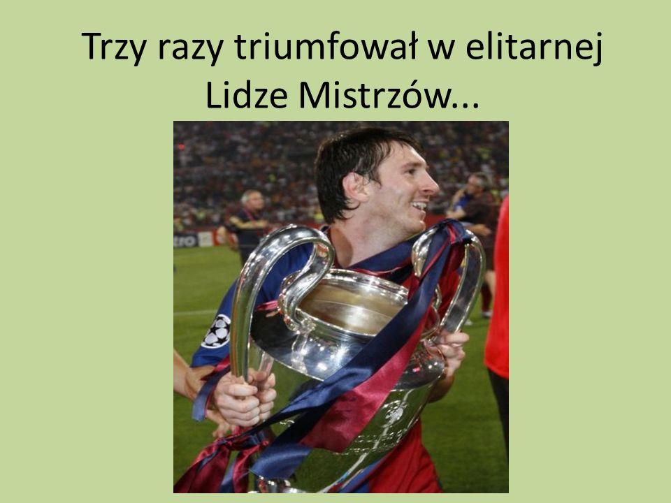 Messi pięciokrotnie był mistrzem Hiszpanii...