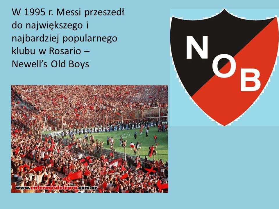 Pierwszym klubem Messiego był Club Grandoli, który to był prowadzony przez jego ojca.