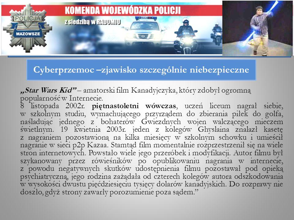 Cyberprzemoc –zjawisko szczególnie niebezpieczne