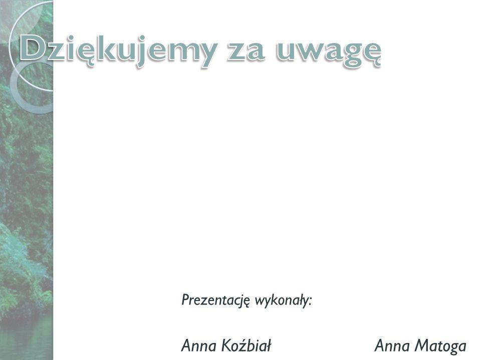 Prezentację wykonały: Anna Koźbiał Anna Matoga