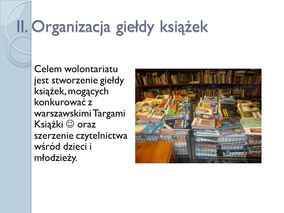 OFERTA WOLONTARIUSZE: Mają szansę wziąć udział w ciekawym projekcie Mogą poznać wielu ludzi z branży; literatów, wydawców GOŚCIE: Mają szansę zakupu książek wraz z autografami autorów Mogą poszerzyć swoją wiedzę na temat współczesnej literatury